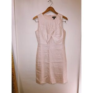 J.Crew pale pink linen knit wedding knee dress